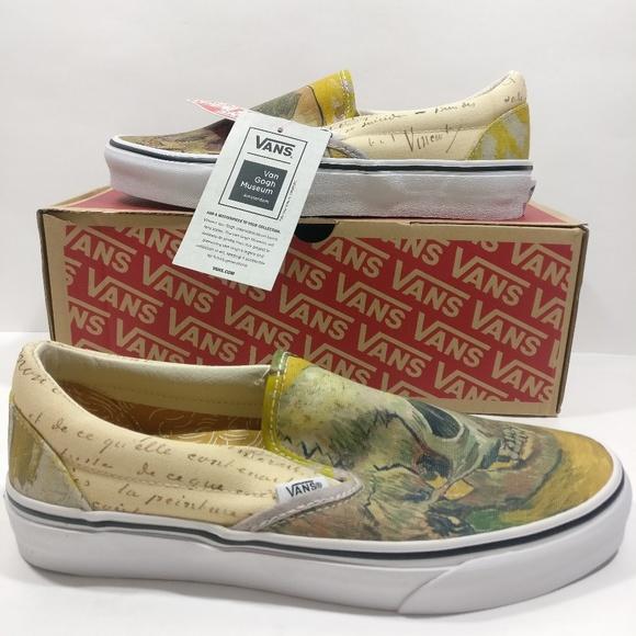 dd32d485bd Vans Vincent Van Gogh Skull Slip On Shoes